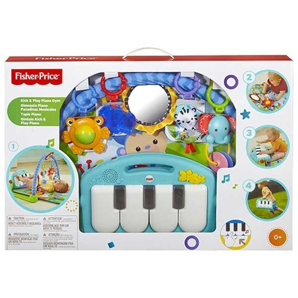 Fisher-Price費雪嬰幼兒玩具 可愛動物小鋼琴健身器 TOYeGO 玩具e哥
