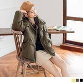 《EA1945-》霧面素色保暖鋪棉外套 OB嚴選