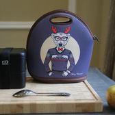 日本飯盒袋手提包保溫便當包拎包袋午餐防水【熊貓本】