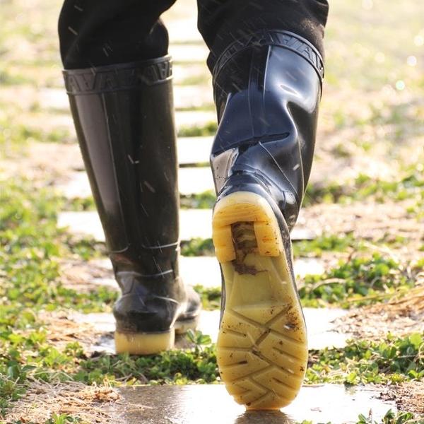 雨靴 高筒雨鞋男士中筒油鞋低幫短筒靴套鞋水膠靴防水靴雨靴勞保水鞋男 維多原創
