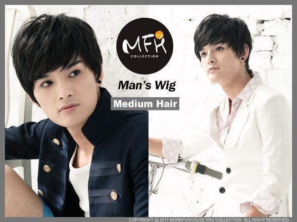 MFH韓國男生假髮◆BIGBANG微彎瀏海造型【M039002】男用假髮/Party造型/尾牙造型變髮