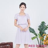 RED HOUSE-蕾赫斯-花朵波浪洋裝(共兩色)