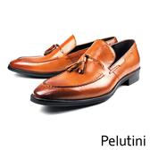 【Pelutini】流蘇樂福紳士鞋 茶褐色(8241-BR)
