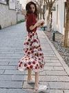 2021年春裝新款小個子溫柔風初戀法式碎花洋裝子氣質套裝女夏裝 果果輕時尚
