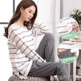 孕婦睡衣 月子服夏季薄款純棉長袖孕婦睡衣產后哺乳衣產婦春秋喂奶衣 寶貝計畫