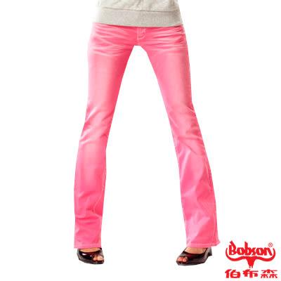 BOBSON 女款套染刷白小喇叭褲(9067-10)