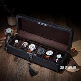 手錶收藏盒碳纖維皮質手錶盒子木制錶盒機械錶展示盒收藏收納盒帶鎖xw