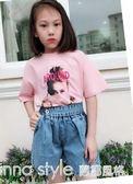 夏季新款女童牛仔短褲中大童韓版時尚薄款短褲兒童寬鬆短褲子  LannaS