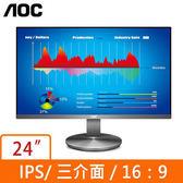AOC I2490VXQ 24型 IPS (黑)液晶顯示器