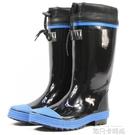 雨鞋男款春夏單款防水高筒橡膠套鞋膠鞋膠靴防滑釣魚鞋長筒水鞋 依凡卡時尚