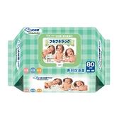 拭拭樂 專利保濕蓋 嬰兒柔濕巾-綠色,尺寸15x20cm (80抽/單包) 【杏一】
