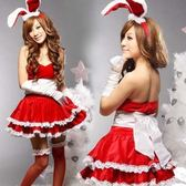 新款聖誕服裝女成人舞台演出服COS兔女郎聖誕連衣裙表演服裝