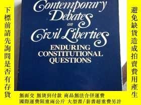 二手書博民逛書店Contemporary罕見Debates on Civil Liberties--關於公民自由的當代辯論Y1