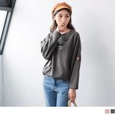 《AB5606》圖樣刺繡設計磨毛手感上衣 OrangeBear