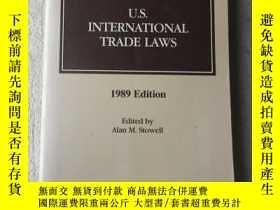 二手書博民逛書店U.S.罕見international trade laws 美