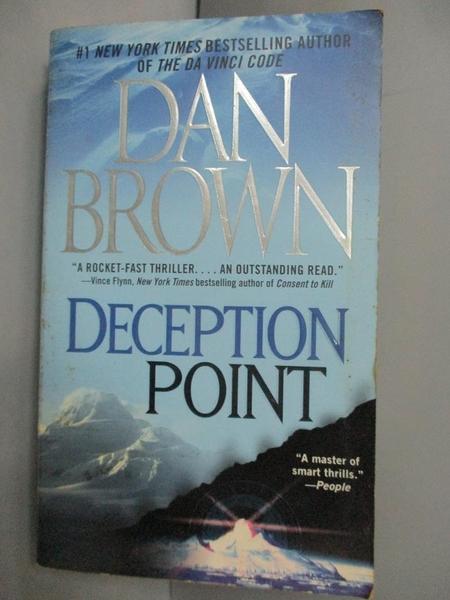 【書寶二手書T2/原文小說_IIP】DECEPTION POINT_DAN BROWN