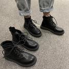 短靴 年夏季英倫風春秋瘦瘦單靴ins潮馬丁靴短靴子女薄款透氣 晶彩 99免運