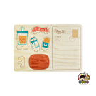 【收藏天地】印章明信片*珍珠奶茶 ∕  印章 擺飾 送禮 趣味 文具 創意 觀光 記念品