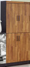 【森可家居】尚恩2.7x6尺雙色高鞋櫃(共10層) 7JF293-2 木紋質感 北歐工業風