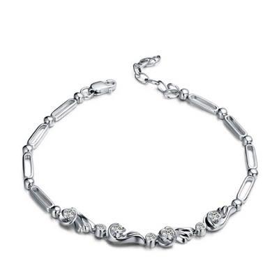 925純銀手鍊 鑲鑽手環-時尚精選優雅氣質生日聖誕節禮物女飾品73ly25【時尚巴黎】