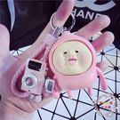 鑰匙圈正韓創意可愛屁桃 汽車鑰匙扣男士女款包包掛件飾品情侶鑰匙鍊圈