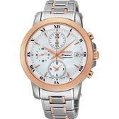 SEIKO 精工 Premier 羅馬優雅計時錶/手錶-珍珠貝x雙色版/37mm 7T92-0TG0S(SNDV68J1)