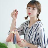 三角包零錢包夏季新款韓版流蘇手拿包手提包可愛小包包 QG4405『M&G大尺碼』