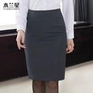 職業半身裙女中長款春秋開叉一步裙顯瘦西裝裙黑色短裙工裝包臀裙【快速出貨】