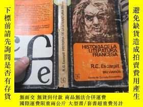 二手書博民逛書店HISTORIA罕見DE LA LITERATURA FRANC