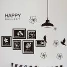 壁貼 歐式HAPPY相框貼 創意壁貼 無痕壁貼 壁紙 牆貼 室內設計 裝潢【YV4197】Loxin