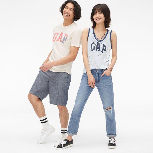 Gap男裝 Logo印花口袋短袖T恤 465938-燕麥白