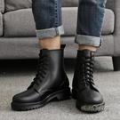夏季時尚雨鞋男 馬丁雨靴 男士防滑透氣水靴膠鞋雨鞋短筒成人「時尚彩紅屋」