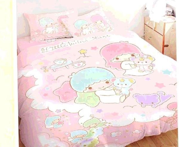 [COSCO代購] W131019 100% 純棉單人兩用床包被套3件組 - 雙星仙子 小熊扮家家