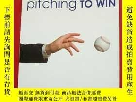二手書博民逛書店pitching罕見TO WIN 投球獲勝 扉頁有字Y20361