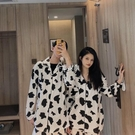 2020奶牛睡衣女秋學生ins長袖套裝韓版寬鬆夏季短袖家居服可外穿 快速出貨