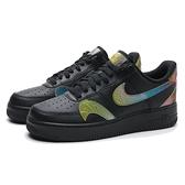 NIKE 休閒鞋 AIR FORCE 1 07 LV8 黑 皮革 彩色漸層 變色雙勾 男 (布魯克林) CK7214-001