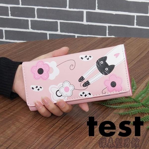 長夾錢包新款卡通時尚可愛貓咪大容量手機包女皮夾錢夾 傑森型男館