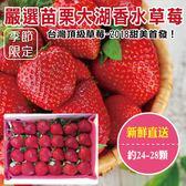 【果之蔬-全省免運】嚴選苗栗大湖香水草莓X1盒 【單盒24-28顆/400克±10%/含盒重】