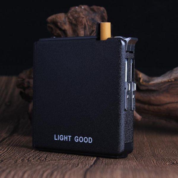 香菸煙盒20支裝便攜自動彈煙男士個性創意刻字定制照片煙盒打火機TW