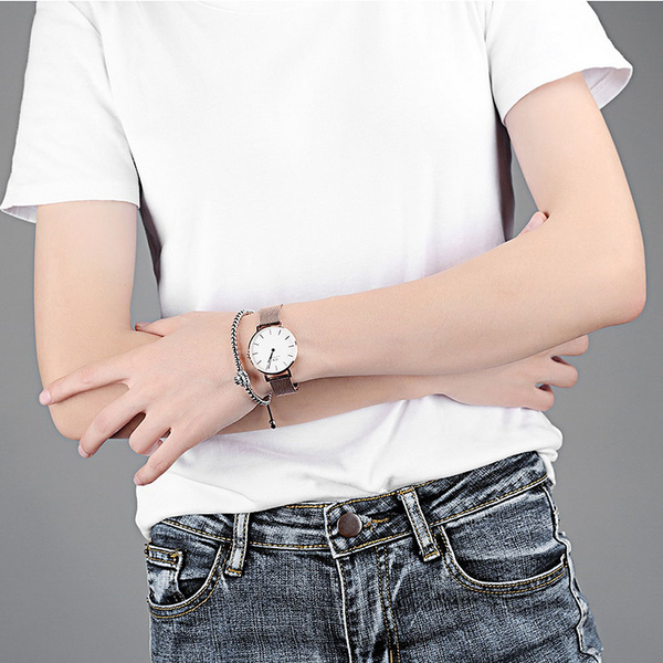 銅鍍白金 獅子造型水鑽手鍊 氣質優雅 低調奢華 閃亮耀眼 女生禮物 單件價【CKA517】Z.MO鈦鋼屋
