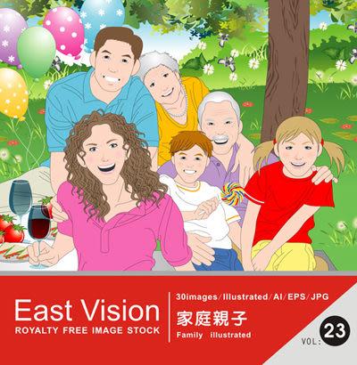 【軟體採Go網】IDEA意念圖庫 東方影像系列(23)家庭親子★廣告設計素材最佳選擇★