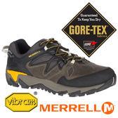【MERRELL 美國】ALL OUT 男GORE-TEX多功能健行鞋『橄綠/黃』42429 機能鞋.休閒鞋.登山鞋