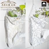 【LASSLEY】典雅刺繡-抽取式衛生紙套-掛盒(面紙 盒套 紙巾)銀色