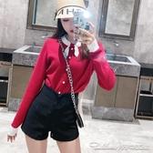 新款春韓版彈力A字闊腿短褲女高腰休閒褲修身顯瘦外穿熱褲潮 阿卡娜