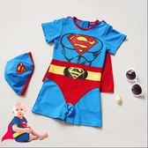寶寶嬰兒泳衣超人出口日本兒童連體遊男童孩小中嬰幼兒1-2-34歲