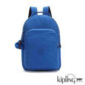 Kipling 深藍素面後背包-大