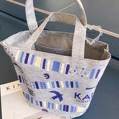 《花花創意会社》外流。KALDI椰樹圖案棉布托特包.三色【H6203】