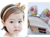 果漾妮妮 韓國毛球蝴蝶結兔耳款 寶寶 嬰兒 髮帶  頭帶 送禮 搭配禮服 婚禮【 P3908】