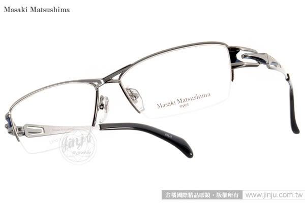 Masaki Matsushima 光學眼鏡 MF1185 C02 (銀-黑) β 鈦金屬系列 質感半框 #金橘眼鏡
