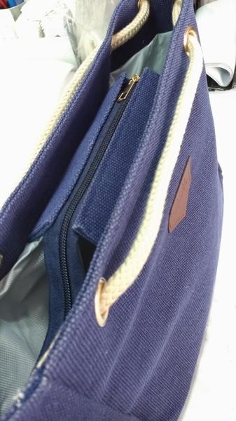 滿額免運【BAG1236 】現貨 百搭流行 質感 方包 托特包 購物包 容量大 麻繩帆布手提包
